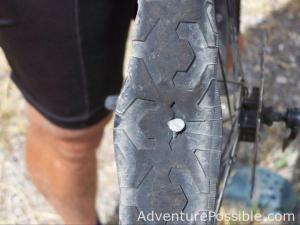 Bike nail in tire
