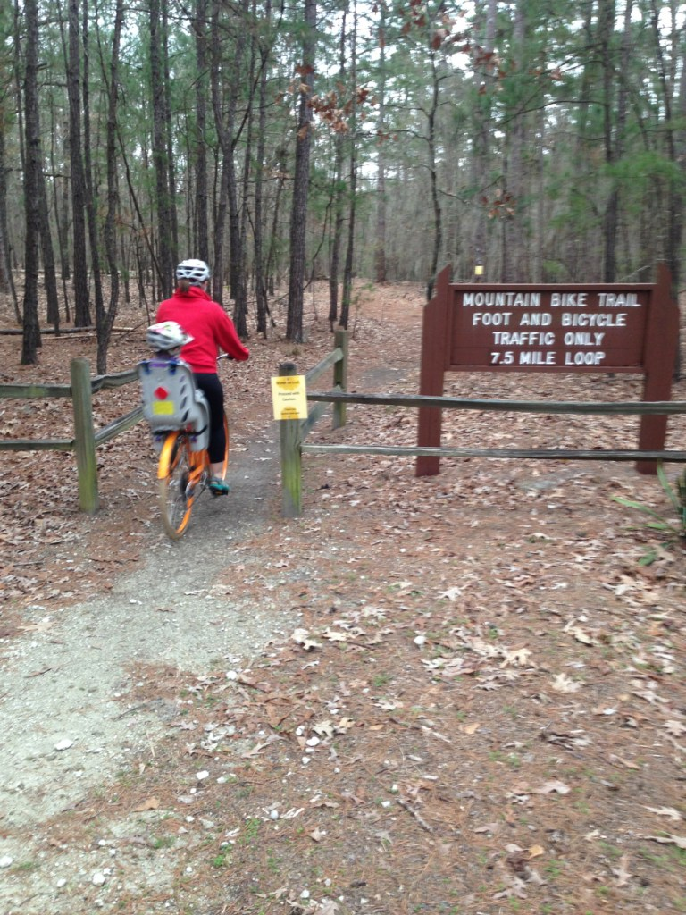 7 miles of bike trail along Lake Marion. We were turned back by rain.