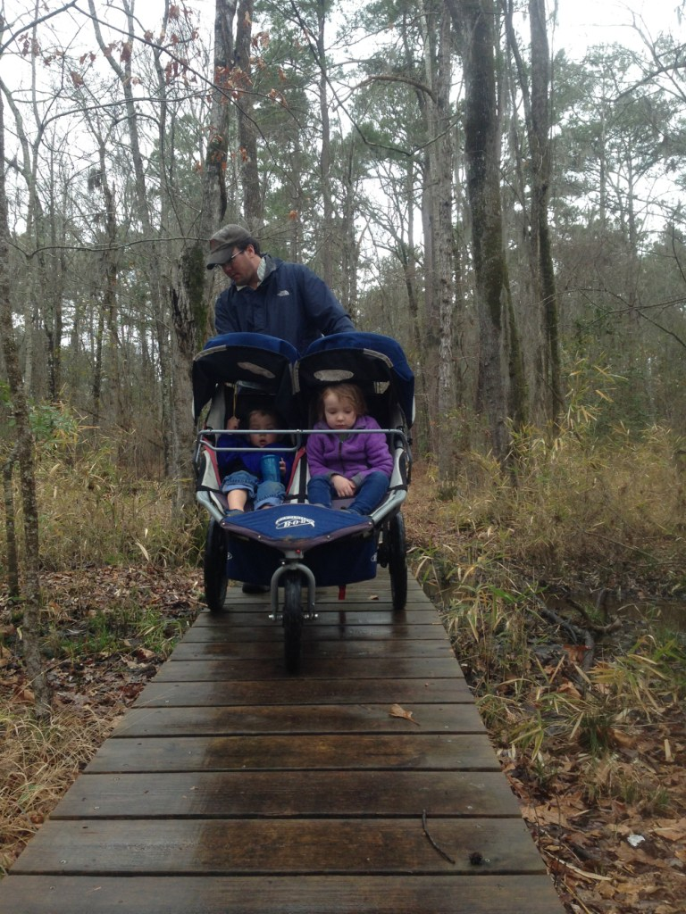 The park has a couple of easy nature walks. We were going stir crazy in the Airstream and had to get out despite the rain.