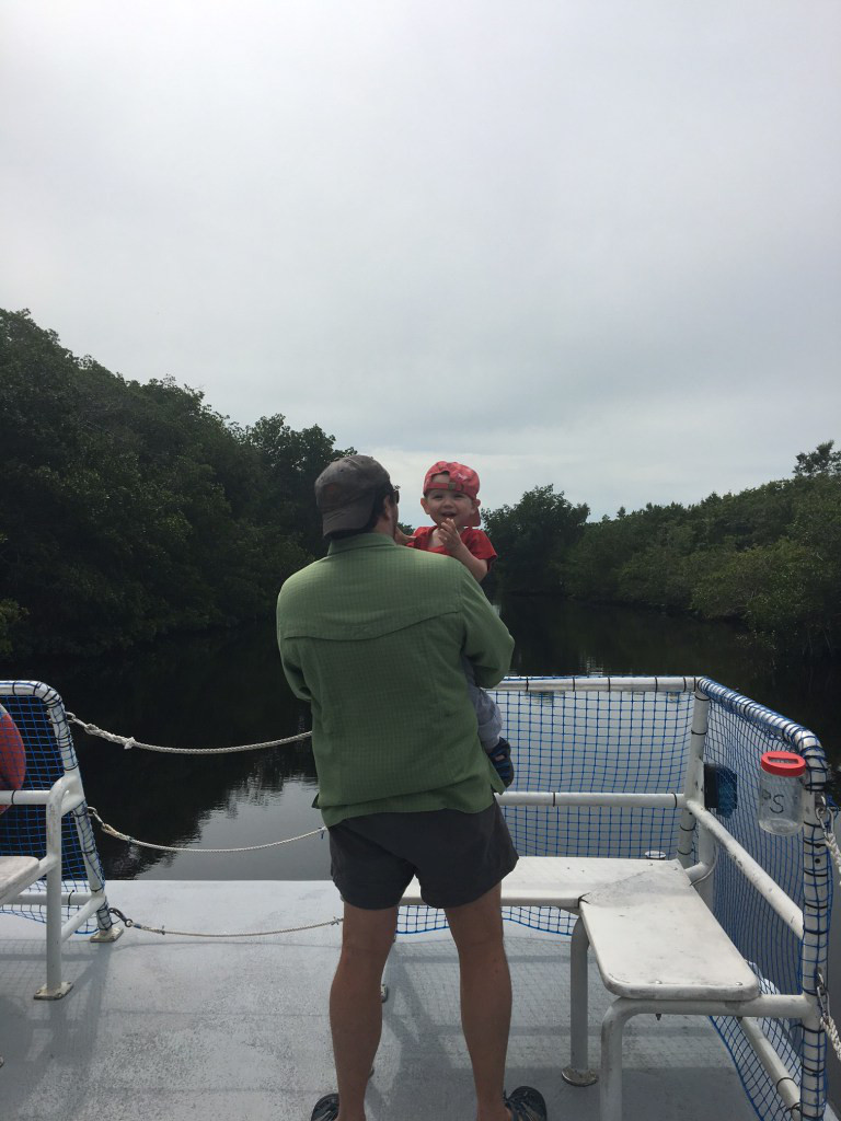 Mark and Wilson underway on the boat tour.