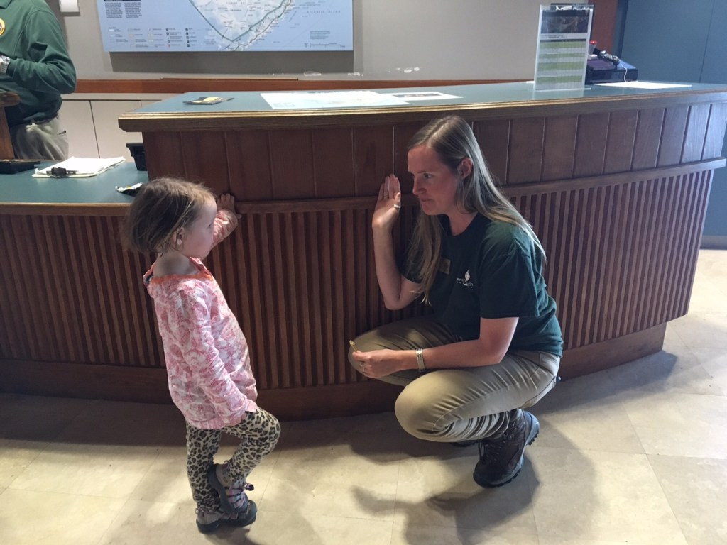 Jane getting sworn in as a Everglades Junior Ranger