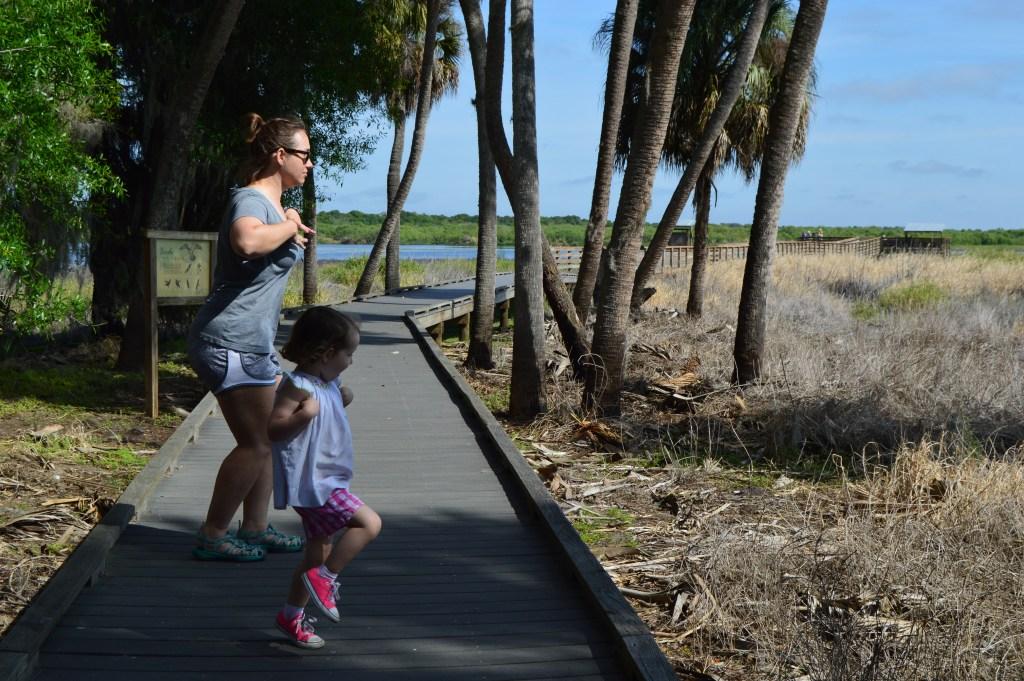 Katie and Jane doing the bird walk, for the heck of it.