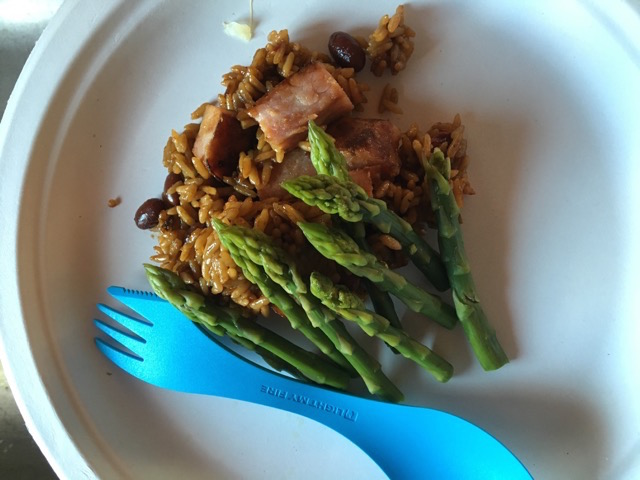 Red Beans and Rice, Asparagus.