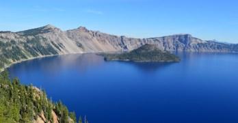 Camping and Hiking at Crater Lake National Park, Oregon
