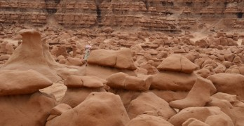Climbing on Goblins in Goblin Valley