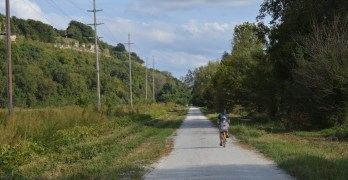 Biking the KATY Trail, Jefferson City, Missouri