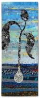 Dancing Toward the Sun - detail, an art quilt by Ellen Lindner. AdventureQuilter.com