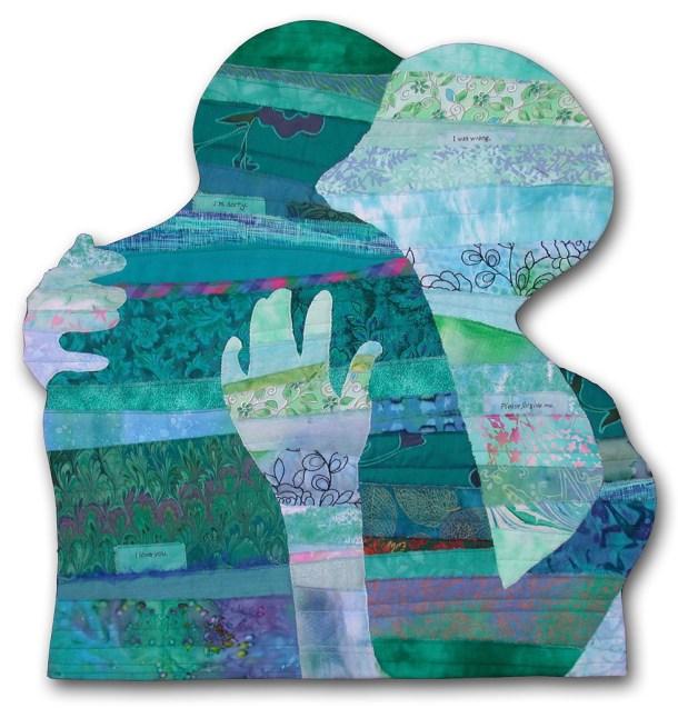 Reconciliation, an art quilt by Ellen Lindner. AdventureQuilter.com