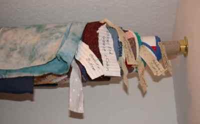 Store your quilts up high. Ellen Lindner, AdventureQuilter.com