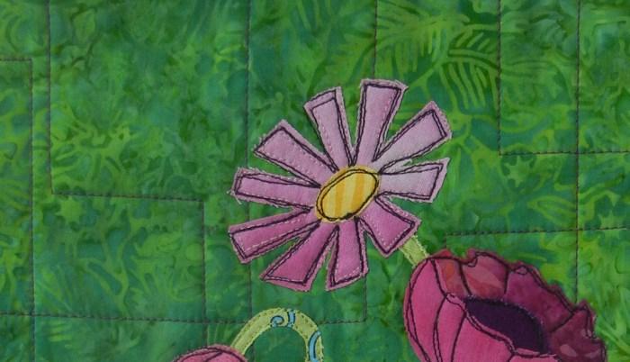 Floral Improv class with Ellen Lindner. AdventureQuilter.com