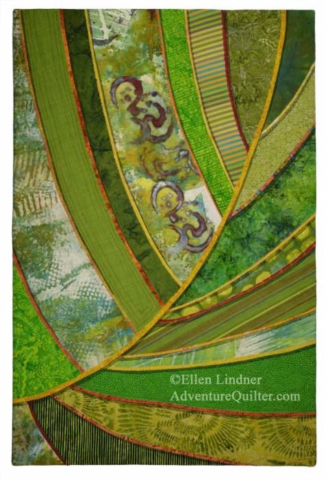 Florida Native #2, an art quilt by Ellen Lindner. AdventureQuilter.com