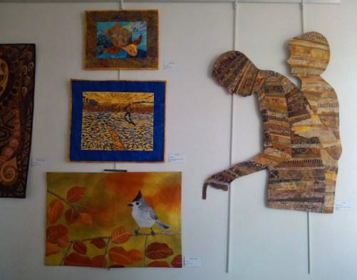 Fiber art exhibit in Melbourne, FL. Ellen Lindner, AdventureQuilter.com/blog