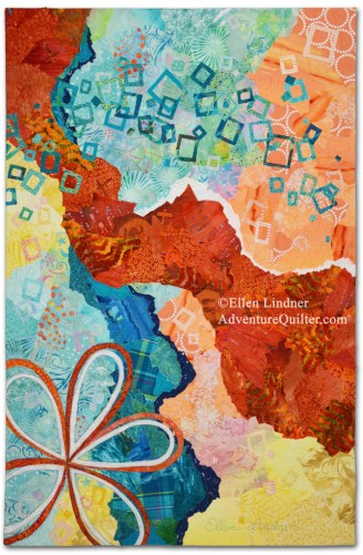 Second Thoughts, an art quilt by Ellen Lindner. AdventureQuilter.com/blog