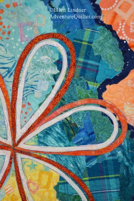 Second Thoughts, an art quilt by Ellen Lindner. AdventureQuilter.com/blog