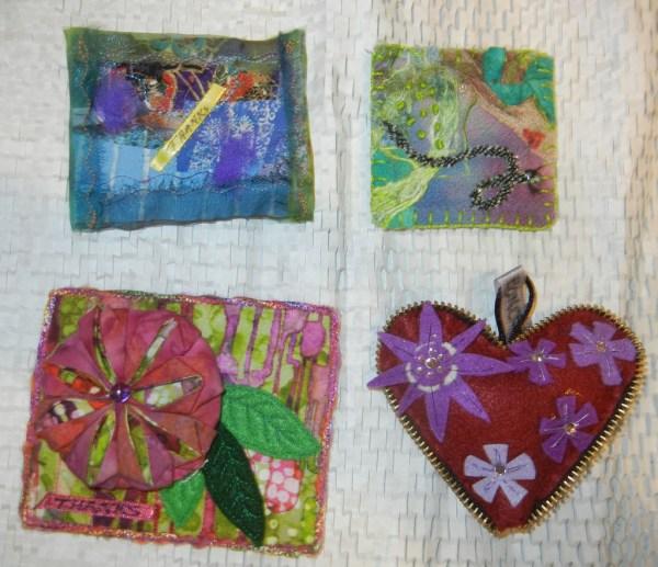 Fabric cookies on Ellen Lindner's blog: AdventureQuilter.com/blog