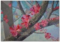 Spring Forth, an art quilt by Ellen Lindner. AdventureQuilter.com/blog