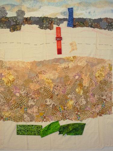 Corn Fields and Such. Ellen Lindner, AdventureQuilter.com/blog