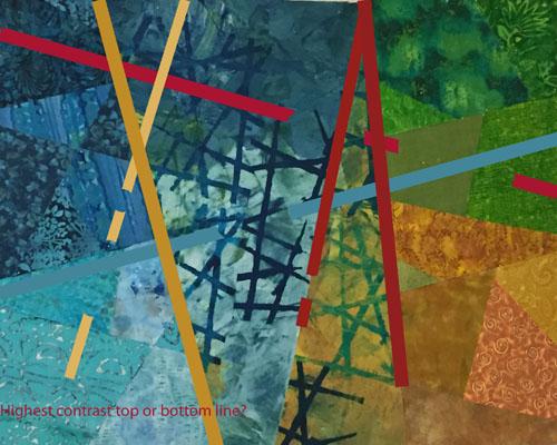 Three Steps Forward. Ellen Lindner, AdventurQuilter.com/blog
