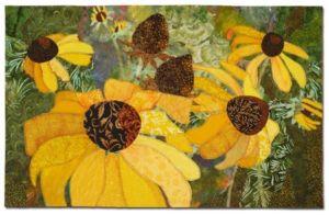 Natural Progression, an art quilt by Ellen Lindner. AdventureQuilter.com