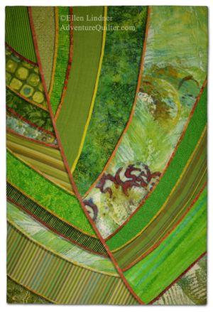 Florida Native #1, a fabric collage by Ellen Lindner. AdventureQuilter.com