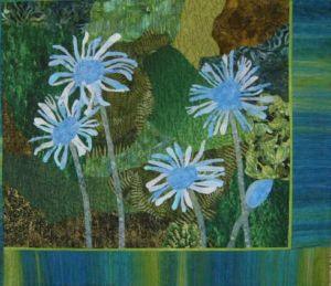 Allen's Garden by Janet Brandt. Created in a class with Ellen Lindner, AdventureQuilter.com