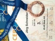 Eine WM-Medaille! Yeah!