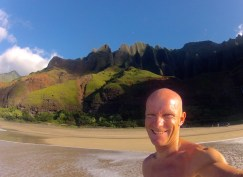 Enjoying Kalalau Beach