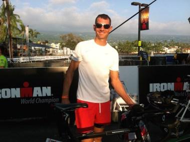 Thomas beim Rad Check-in