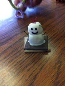 Adorable S'More SWAP - I didn't make this, but I think it's foam with air dry clay and paint, maybe?