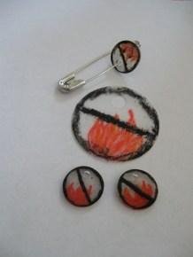 Burn Ban SWAP - crayon on shrink plastic