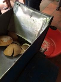 Shredding it to make coconut we use to make Nanaimo Bars, etc...