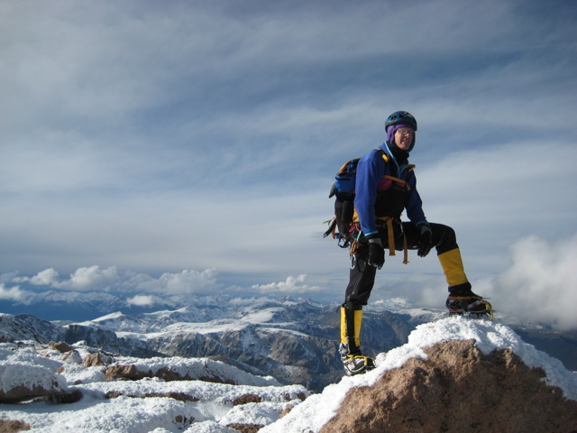 On the summit of Longs in November