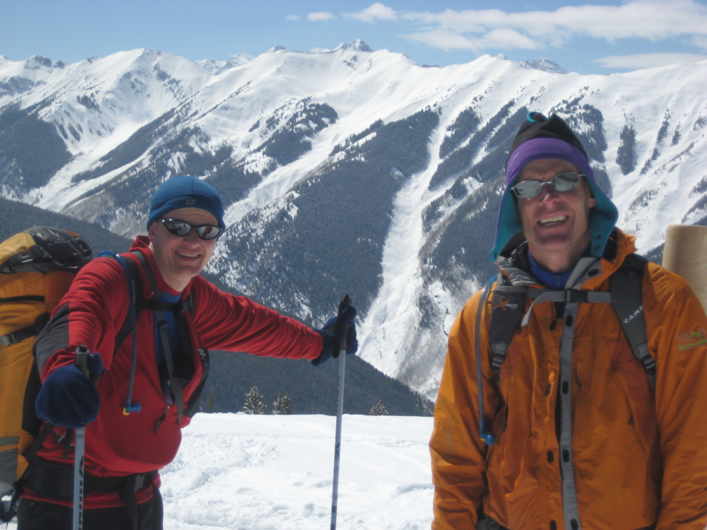 Homie and I near the top of Aspen Mountain