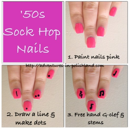 '50s Sock Hop Nails | Adventures in Polishland