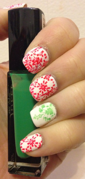 Holiday Manicure with Born Pretty Store Stamping Plates