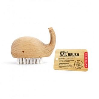 Kikkerland Wooden Whale Nail Brush