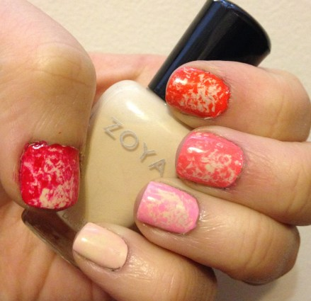 Saran Wrap Ombré Manicure for Valentine's Day featuring Zoya Nail Polish!
