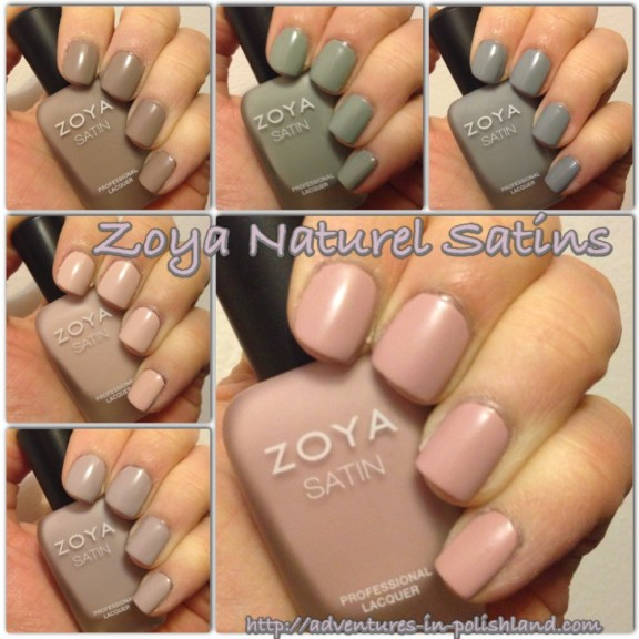 Zoya Naturel Satins Collection | Adventures in Polishland