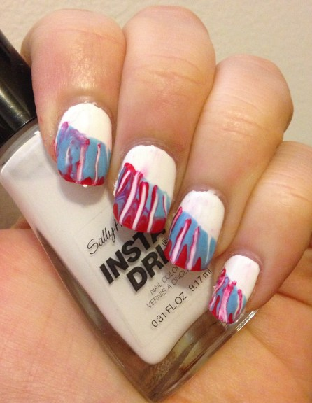 July 4th Nail Art featuring Sally Hansen Insta-Dri