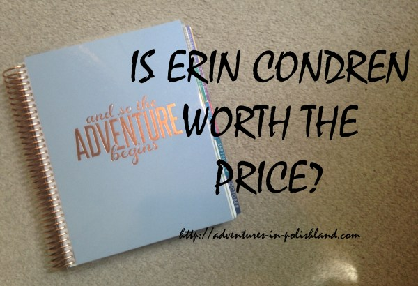 Is Erin Condren Worth the Price? | #PlanWithPolishland