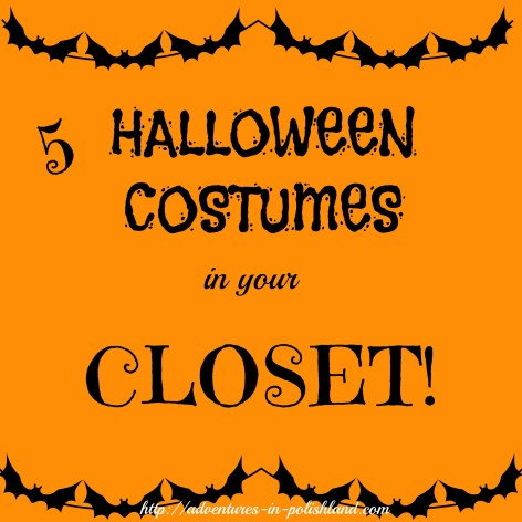Halloween Week | 5 Halloween Costumes in your Closet