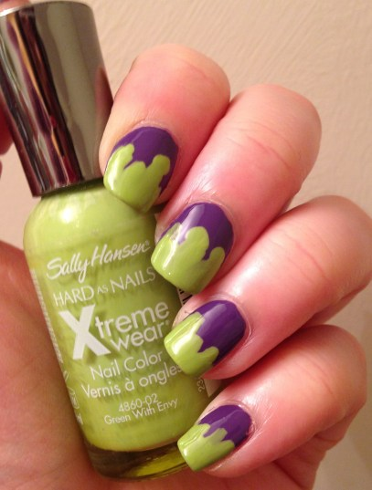 Halloween Week | Slime Nail Art