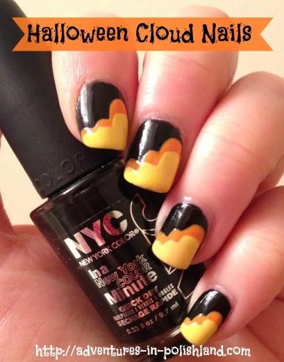 Welcome to Halloween Week! Halloween Cloud Nails