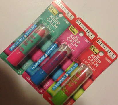 Rimmel London Keep Calm and Lip Balm | Swatches & Review