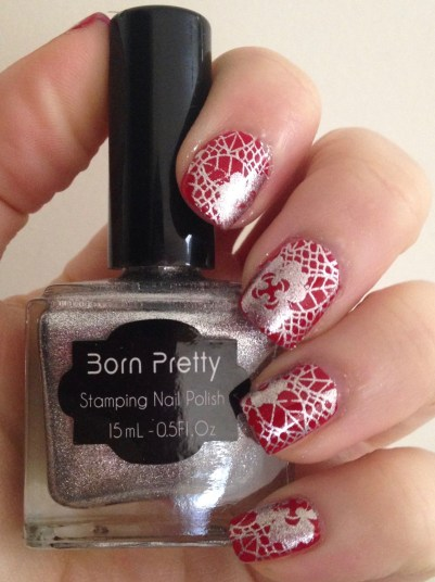 Holiday Lace Nail Art | Adventures in Polishland