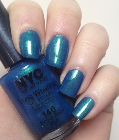NYC New York Color Long Wearing Nail Enamel in Empire State Blue
