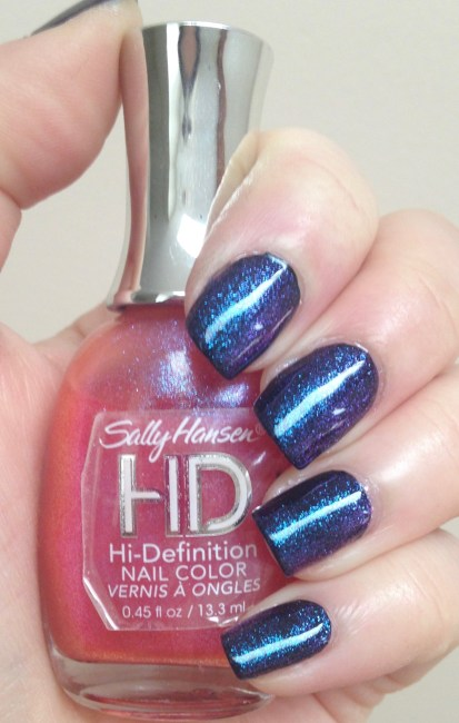 Sally Hansen HD Hi-Definition Nail Color in LCD over Black