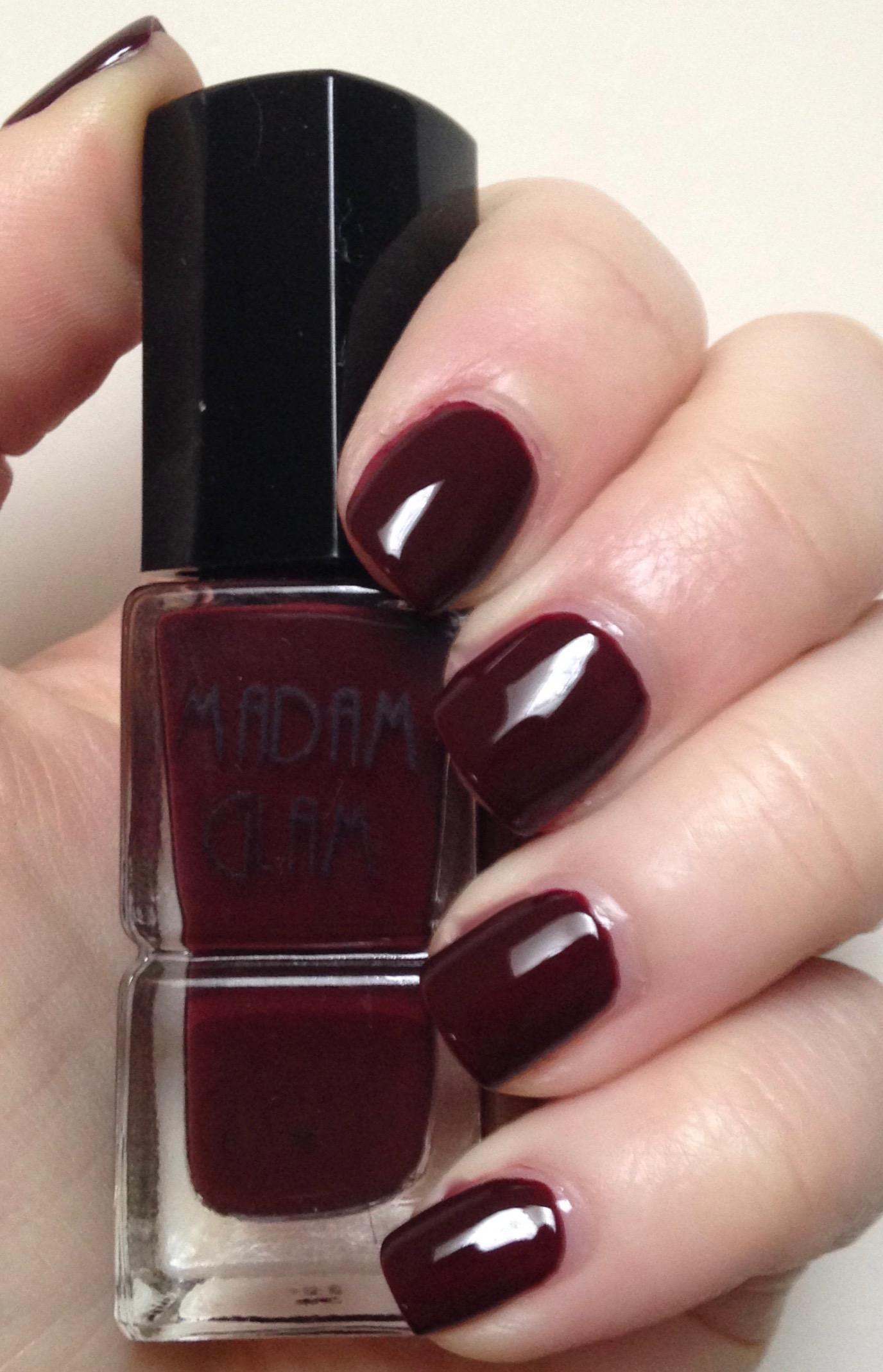 Dare to Compare | Sally Hansen Miracle Gel Wine Stock vs Madam Glam ...