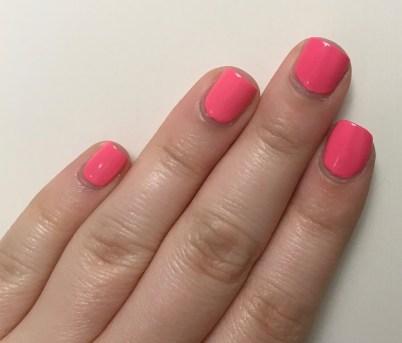 Milani Popping Pink vs Sally Hansen Insta-Dri Fuchsia Flare