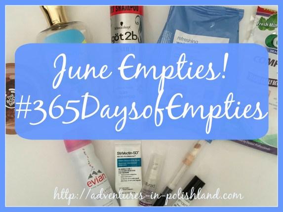 June Empties | #365DaysofEmpties Update